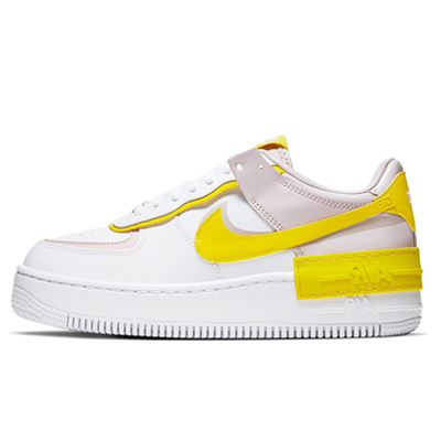 Nike Air Force 1 Shadow White Barely Rose Speed Yellow Hype Sneakers This iteration comes in a vast grey colourway with retro orange accents. hype sneakers